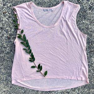 ATHLETA 1X Breezy Pink Workout Tank Top